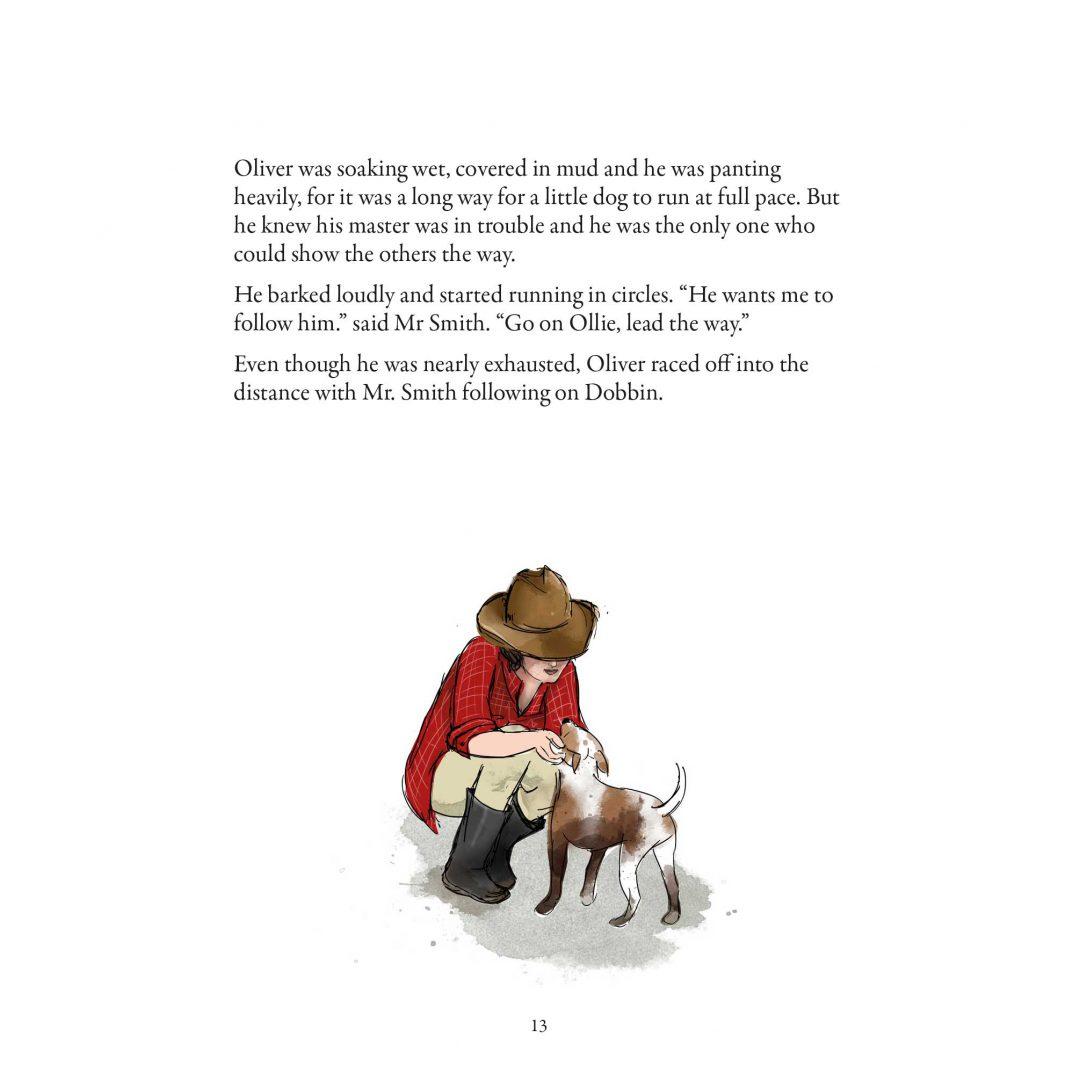 Illustration of Farmer's wife & dog