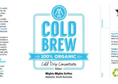 Mighty Mighty Coffee Cold Brew Label