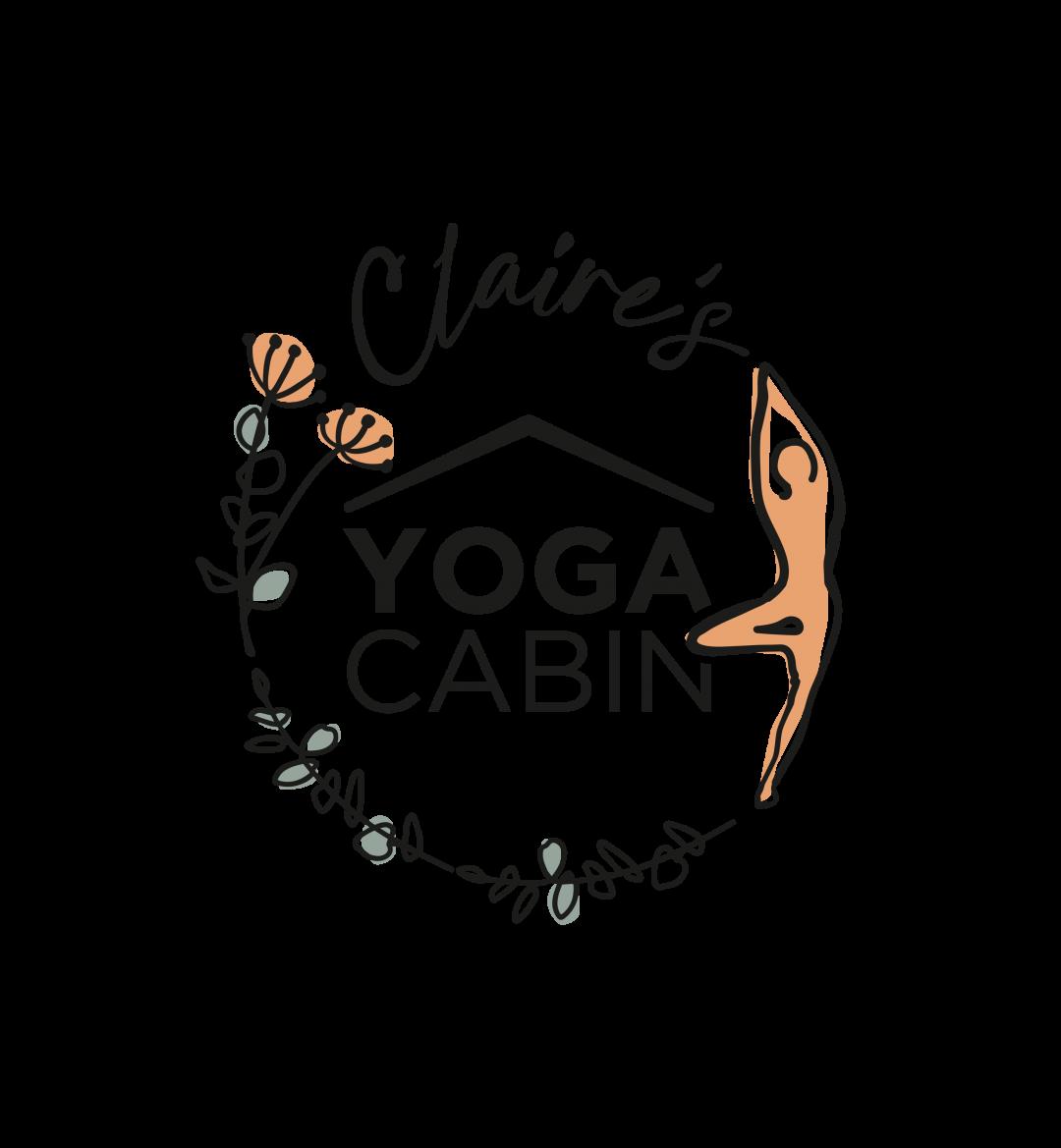 Claire's Yoga Cabin Logo